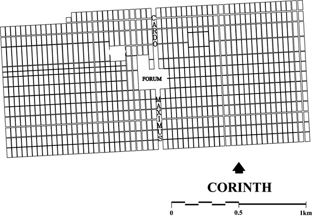 Figure 3 - Drawing board plan of the urban colony of 44 B.C.