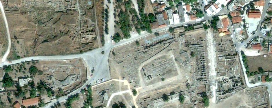 1 Meter Satellite Image of the forum area
