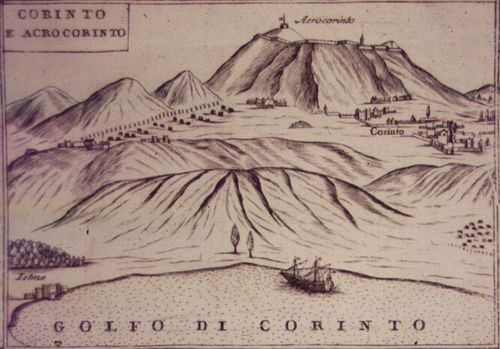 Coronelli, 1685: Courtesy of the Gennadius Library, American School of Classical Studies at Athens