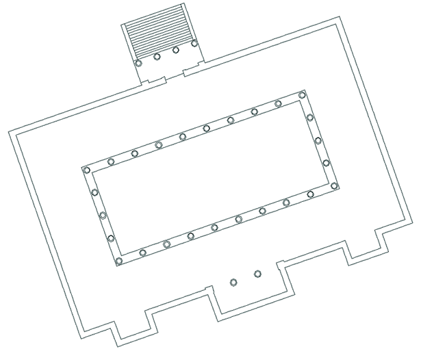 Restored plan of the South Basilica in Corinth, A.D. 150