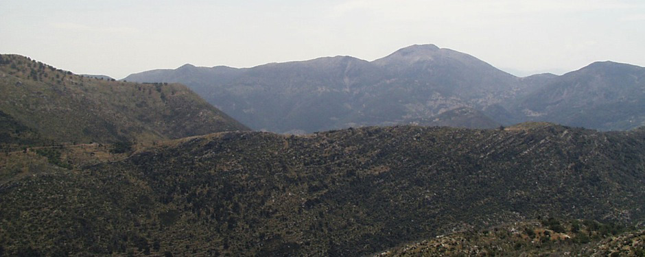 An example of the rugged terrain from the Parrhasian Heritage Park