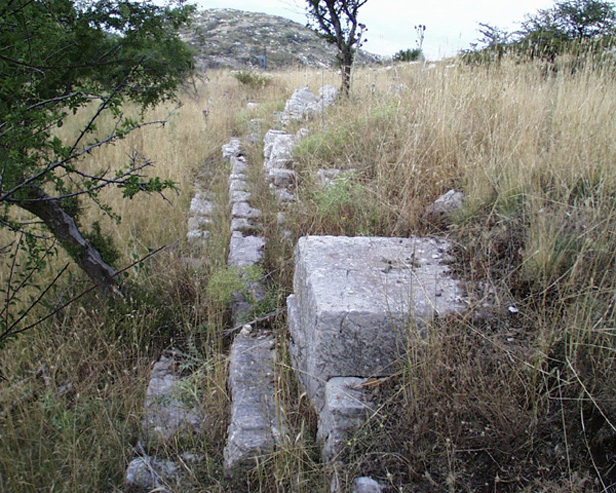 Steps and statue bases