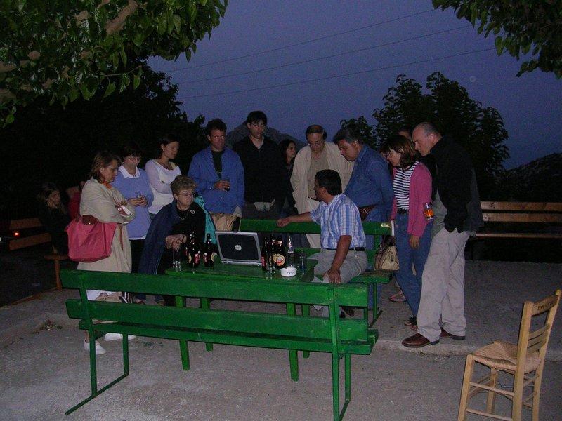 Fig. 12: Apostolos Sarris holding remote sensing seminar.