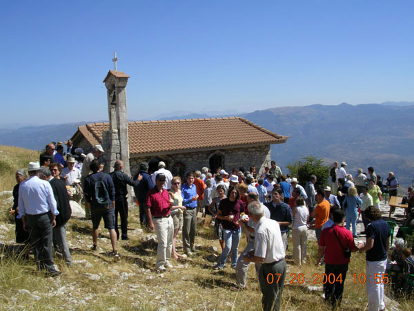 Fig. 16: The church of St. Elias and festival.