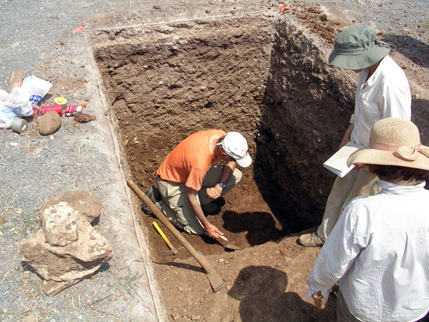 Fig. 18: David Romano working in Trench C.
