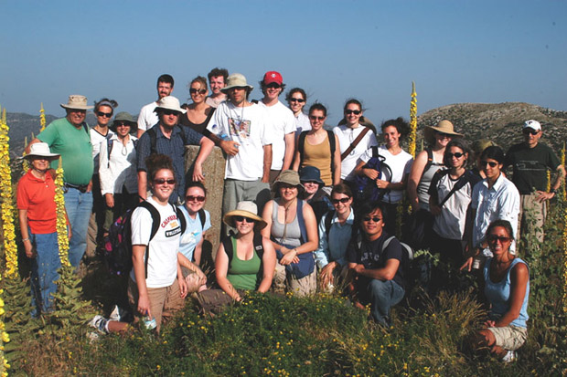 Fig. 1: Group photo on the ash altar at the beginning of the season, June 27.