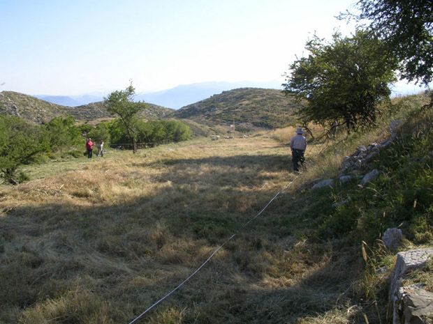 Fig. 2: Apostolis Sarris and his team doing remote sensing below the hippodrome.