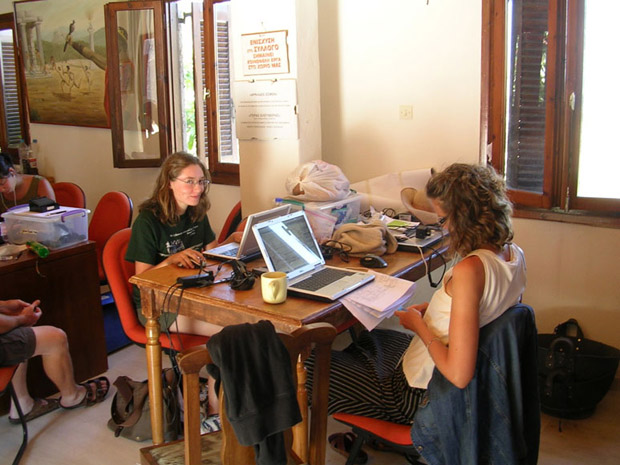 Fig. 8: Architects Margaret Jankowsky and Pam Jordan at work in the Cultural Center.