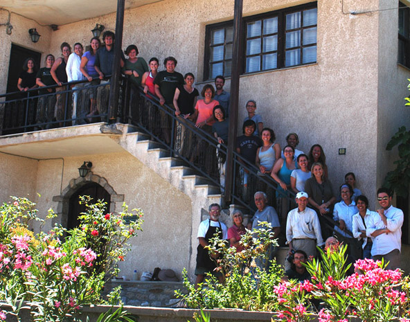Fig. 13: Group photo in front of the dining palace, July 17.