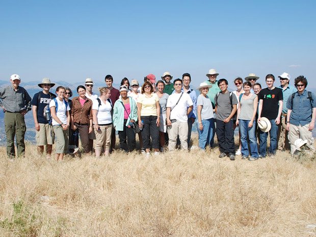 Fig. 1: Group shot on the Ash Altar, June 26, 2008.