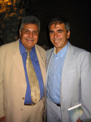 Fig. 18: President of the Patriotic Syllogos of Lykaios Dios, Christos Koumoundouros and the Mayor of Andritsena, Trifon Athanasopoulos, at the final dinner.