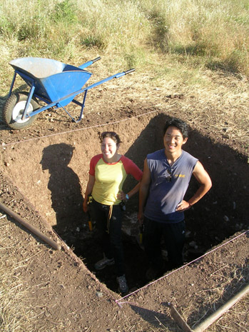 Fig. 10: Amy Plopper and J.R. Son at Trench R.