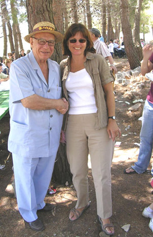 Fig. 18: Nikos Kostopoulos with Mary Voyatzis at the St. Elias Festival.
