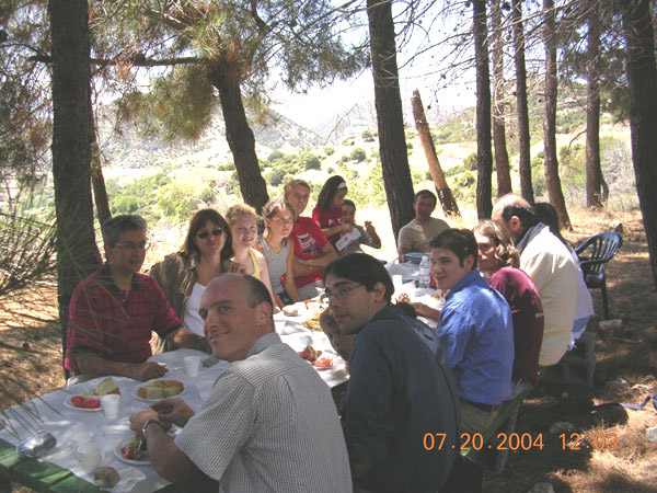 Fig. 17: Luncheon at the festival of St. Elias, July 20, 2004.