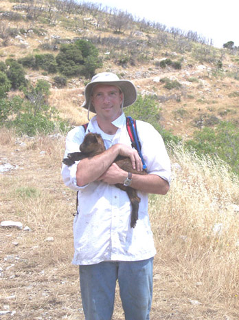 Fig. 10: Tom Fenn with new-found friend.