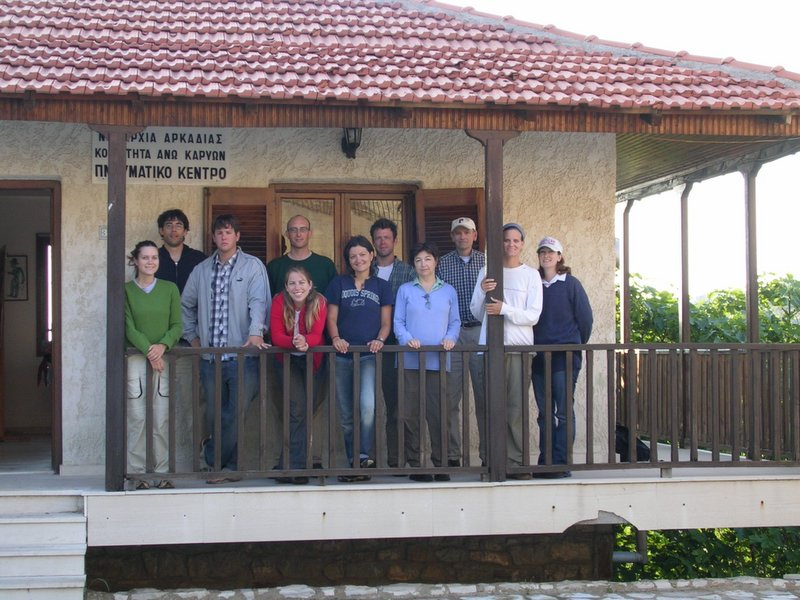 Fig. 1: 2005 Excavation Team members at Cultural Center.
