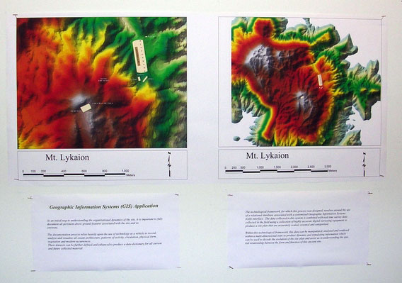 Fig. 12: Panel explaining the GIS applications at Mt. Lykaion.