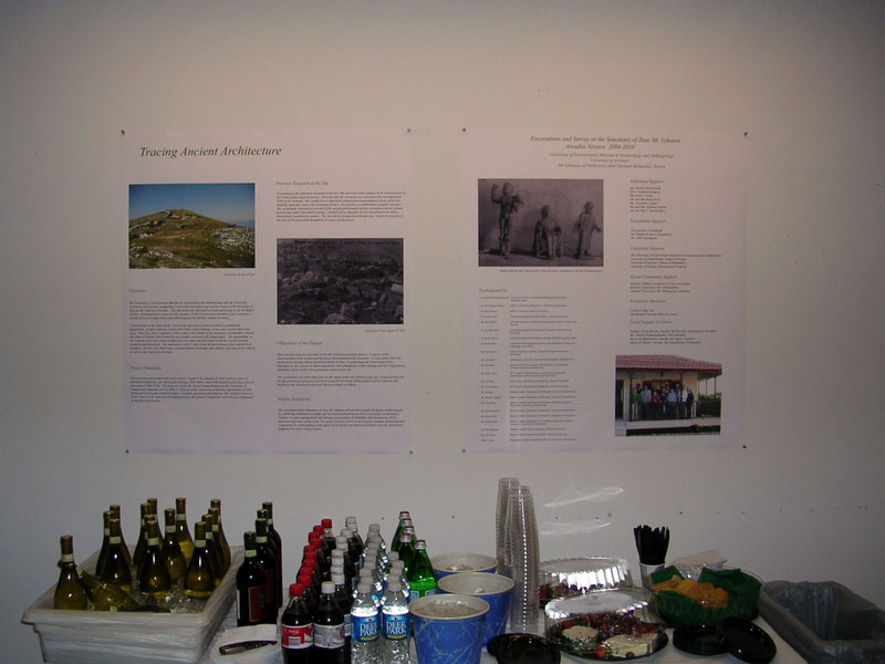 Fig. 16: Panel explaining the history of work at Mt. Lykaion and bibliography.