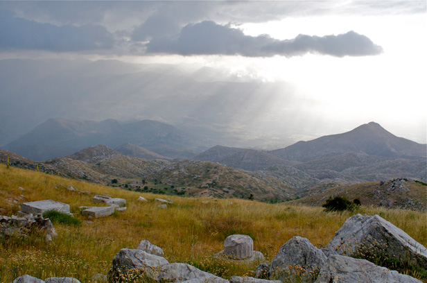 View from temenos at Mt. Lykaion